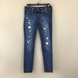 American Eagle Super Stretch Ripped Jegging Size 4